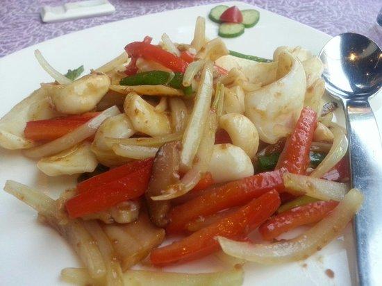 кальмар с овощами по китайски рецепт