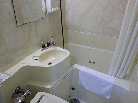 Hotel Econo Higashikanazawa: かなり狭いバスルーム