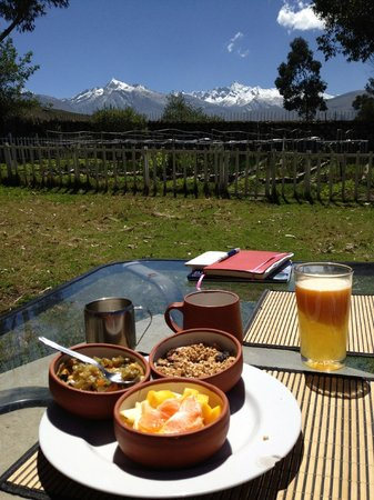 The Lazy Dog Inn: Breakfast with a view!