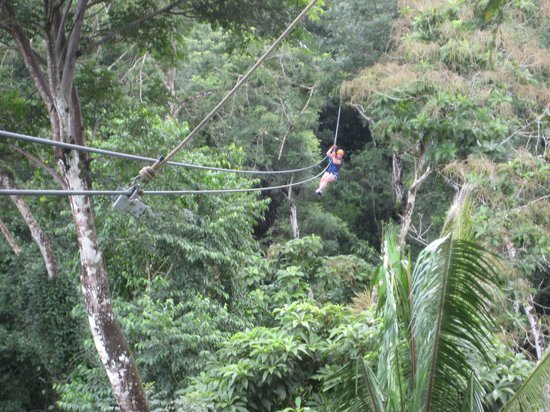 Cave Tubing & Zip Line with Explore Belize Caves: Zipping