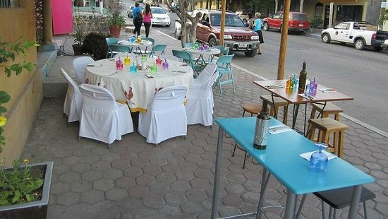 Bistro Magico: Guest Chef night with pleasant outdoor seating.