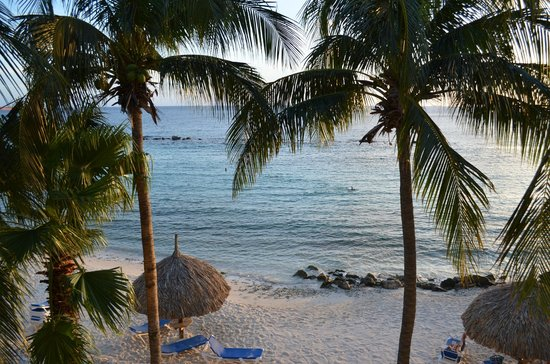 Curacao Marriott Beach Resort & Emerald Casino: View from our Balcony