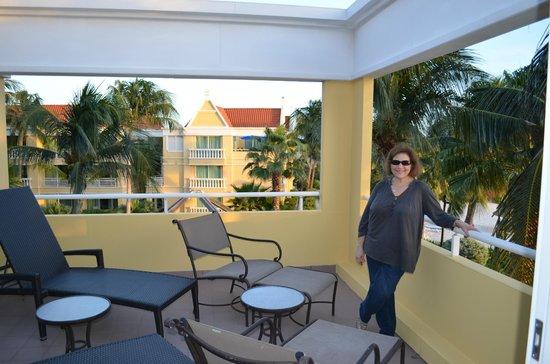Curacao Marriott Beach Resort & Emerald Casino: Our Balcony