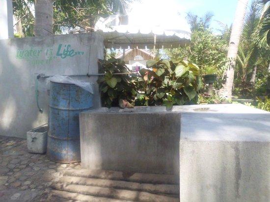 Recuerdo Beach Resort: the washing area