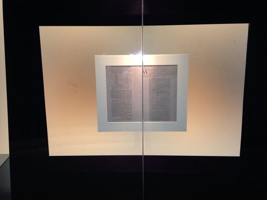 National Constitution Center: One of the original copies of the Declaration of Independence that were published.
