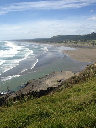 Tour Zealand Tours: Muriwai black sand beach
