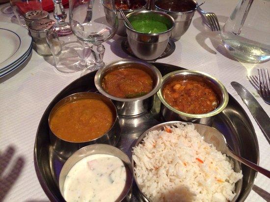Le Petit Rajasthan : Menu Végétarien