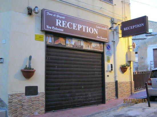 Fiore di Girgenti: 受付の場所です。