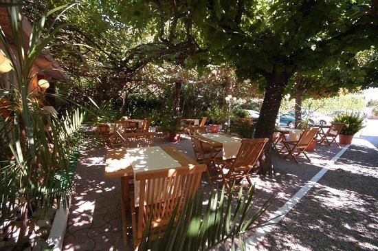 Hotel Castellamar : Là que nous prenions le petit déj le matin... Un des meilleurs moments de la journée!