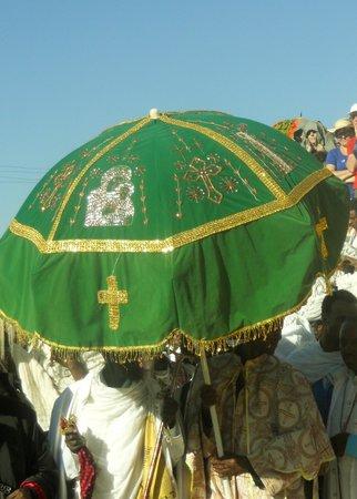 St Mary of Zion: Church Umbrella, St Mary's Celebration, 30 November, Axum