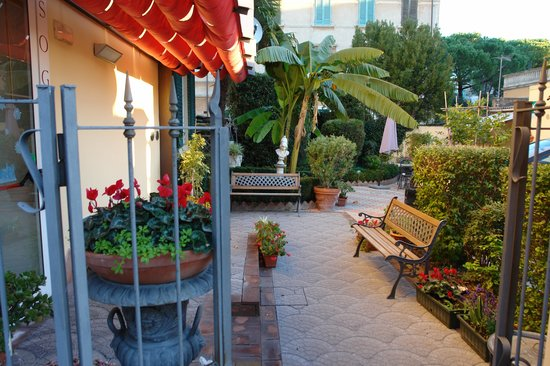 ωραιος μικρος κηπος - Picture of Hotel Soggiorno Athena, Pisa ...