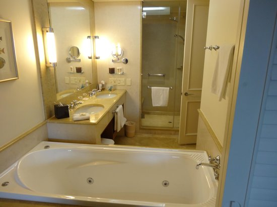 Pullman Reef Hotel Casino: Seperate shower and spa