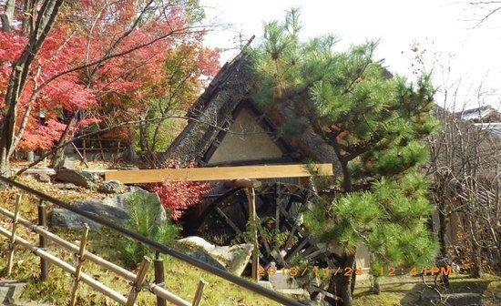 Waraya : わら家前の水車小屋