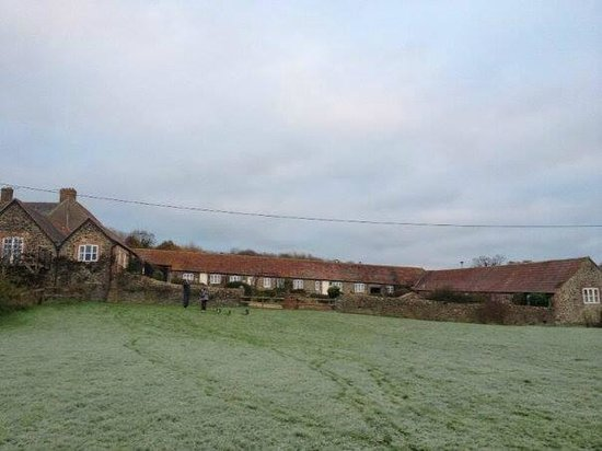 Rudge Farm Cottages: The cottages from the lake