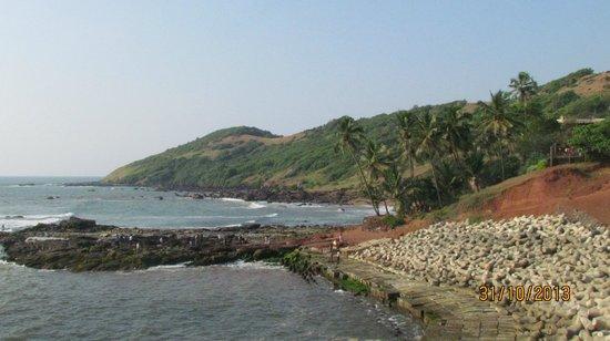 Anjuna Beach: Beach view
