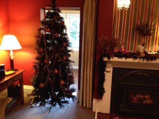 Clydesdale Manor: Black feather boa for Christmas & other tacky choices
