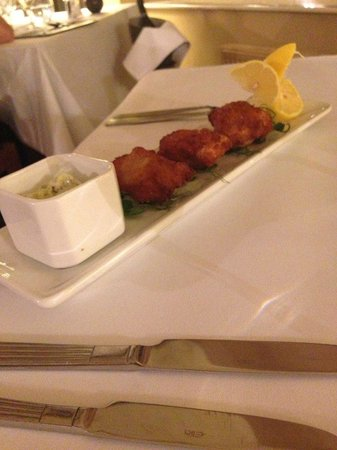 Ox Pasture Hall Hotel: monkfish starter