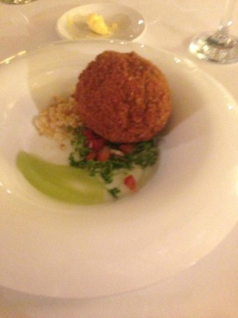 Ox Pasture Hall Hotel: black pudding scotch egg starter