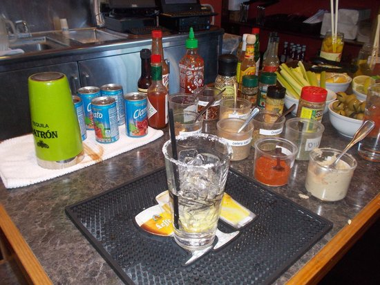 Charley's Restaurant: Make your own Bloody Mary Bar @ Charly's in Paia