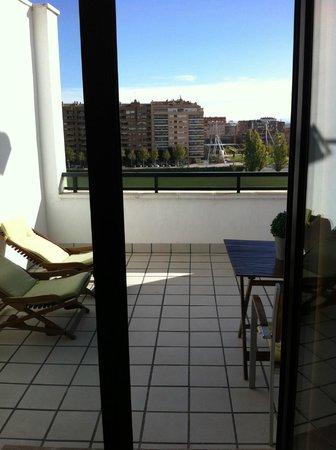 Hotel Real Lleida: Terraza