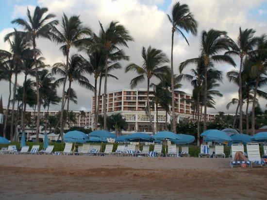 Grand Wailea - A Waldorf Astoria Resort: facing property from shoreline