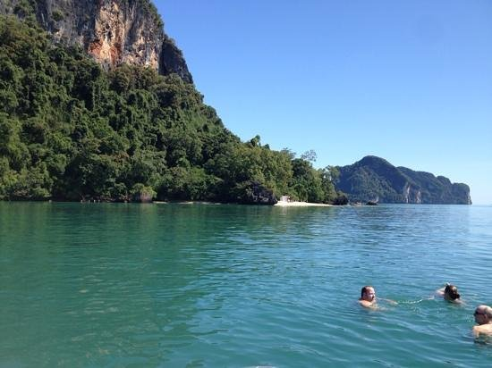 Phuket Sail Tours: swimming in the ocean off the boat