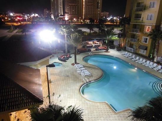The Point Hotel & Suites : The pool in the evening.