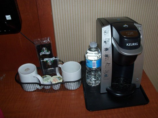 Holiday Inn Cambridge: Keurig Coffee Maker. Nice