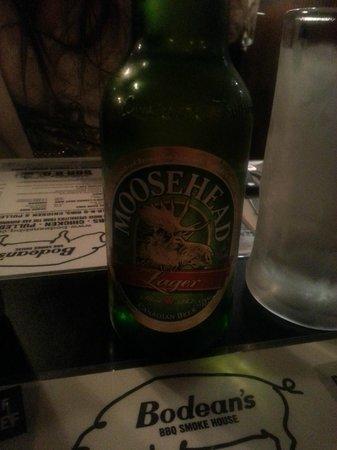 Bodean's BBQ - Soho: Moosehead very refreshing