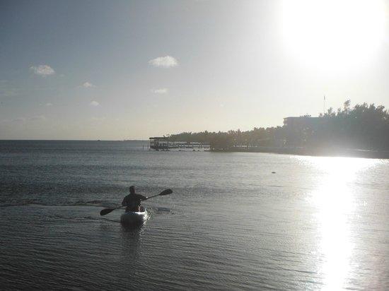 Ocean House: Kayaking from the beach