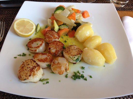 Noix de st jacques photo de restaurant du pont - Cuisine noix de st jacques ...