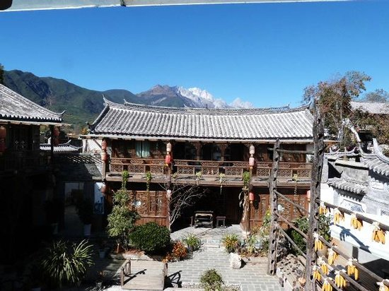 Baisha Holiday Resort Lijiang: Vue du 1er étage.