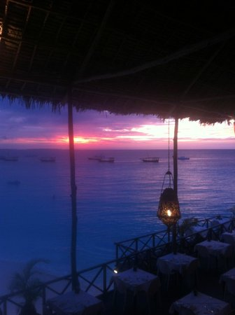 The Z Hotel Zanzibar: View on the sunset from the hotel restaurant