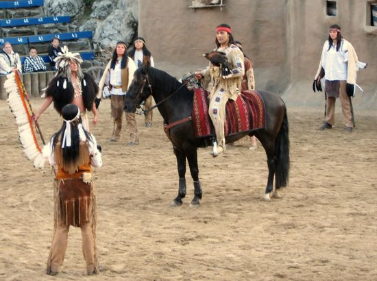 Bad Segeberg, Jerman: Winnetou in Aktion