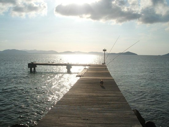 Mango Bay Resort: Our Jetty at Sunset