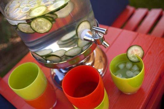 Desert Riviera Hotel: Cucumber Water
