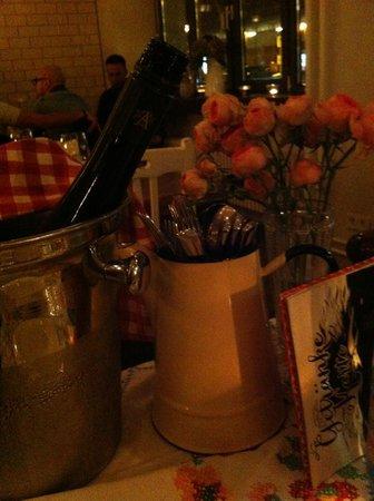 Michelberger Hotel: Al ristorante...