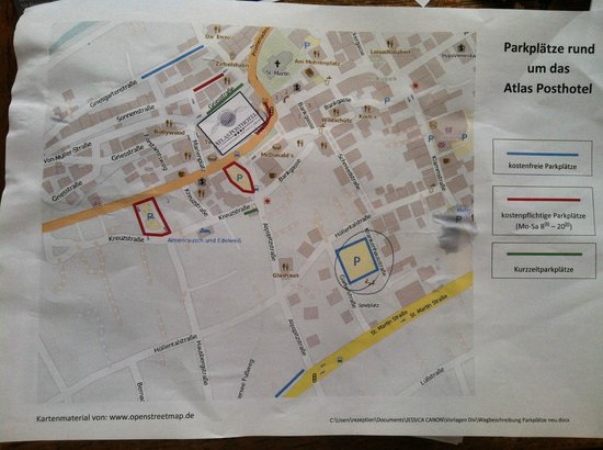 Atlas Posthotel: Parking map
