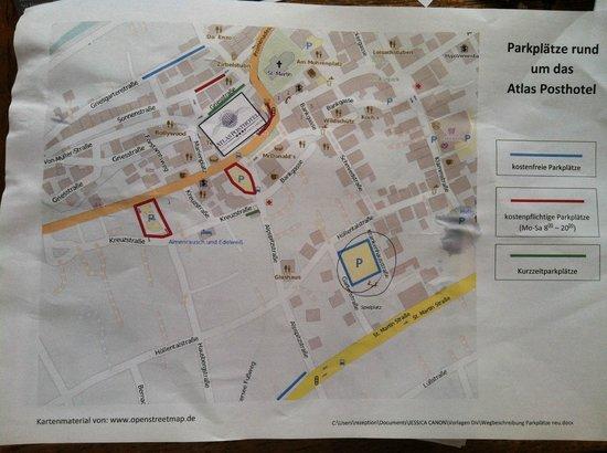 Atlas Posthotel : Parking map