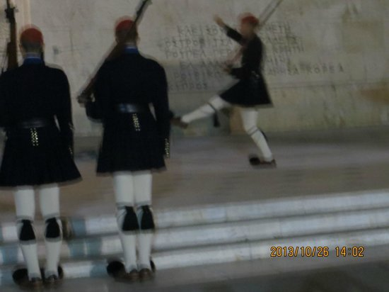 NJV Athens Plaza: Changing of the honour guards