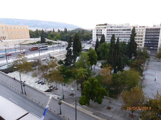 NJV Athens Plaza: view of the square from our balcony
