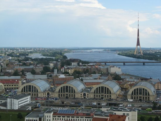 View of Riga from St Peter's Church Tower : Панорама.