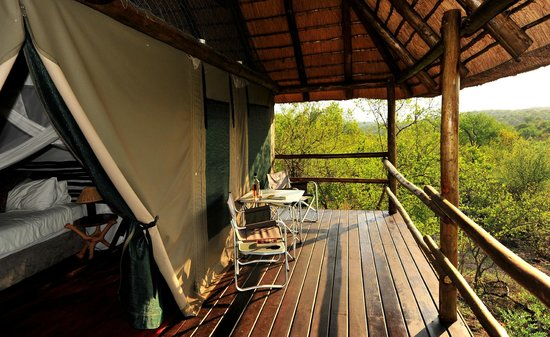 Muweti Bush Lodge: A room with a wiew.