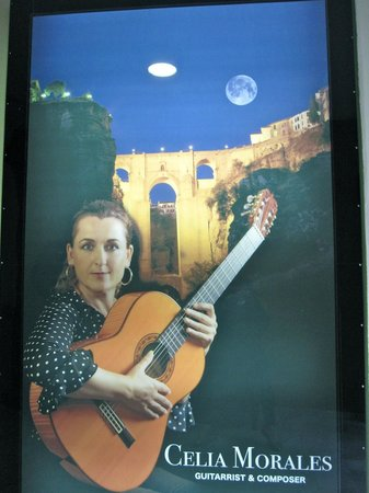 Celia Morales Guitarra Flamenca Tradicional: Advertisement for Cecilia Morales - traditional flamenco guitar