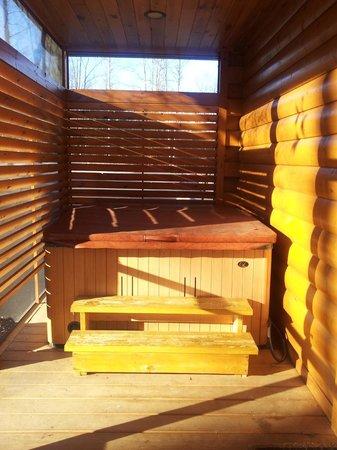 White Oak Lodge & Resort : hottub