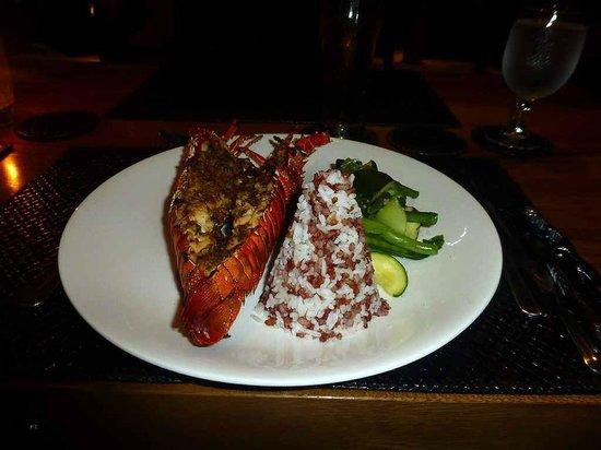 Qunci Villas Hotel: Lobster im Quah Restaurant