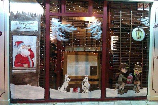 Etampes, Frankreich: décoration de Noël