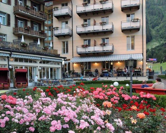 Hotel Victoria-Lauberhorn : exterior court