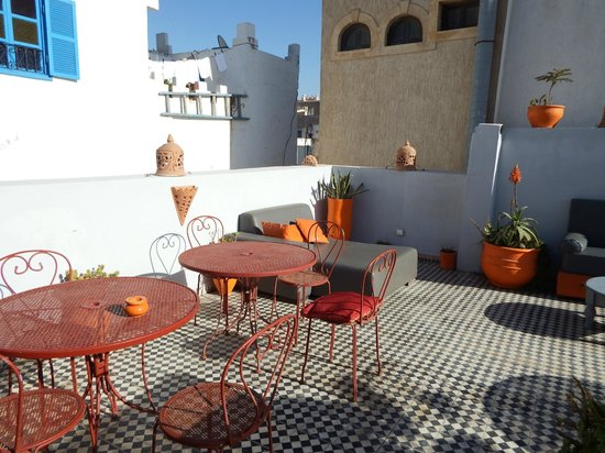 Riad Orange Cannelle : terrasse ptit dej !!!