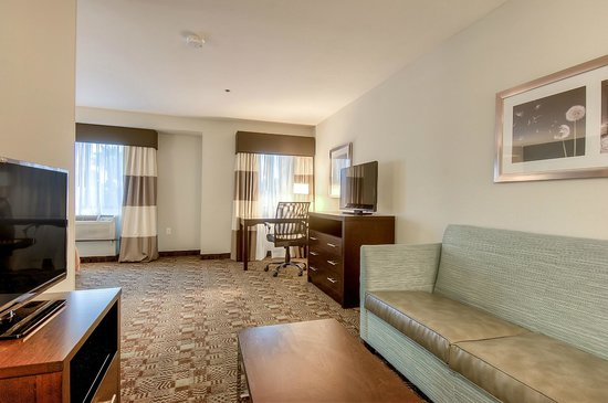 Holiday Inn Express Hotel & Suites Carlsbad Beach: King suite w/ sitting area and wet bar